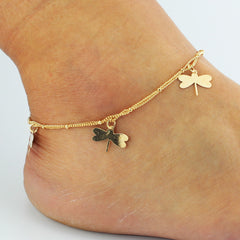 Dragonfly Bell Double Layer Anklet - Oh Yours Fashion - 1