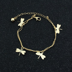 Dragonfly Bell Double Layer Anklet - Oh Yours Fashion - 2