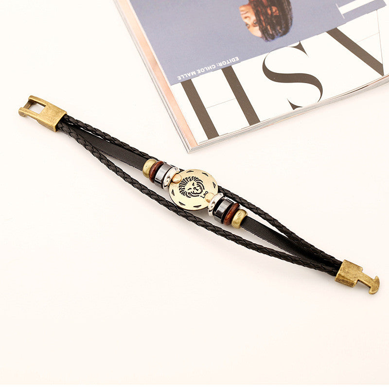 Leo Constellation Leather Bracelet - Oh Yours Fashion - 3
