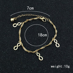 Golden Lucky 8 Women's Anklet - Oh Yours Fashion - 3