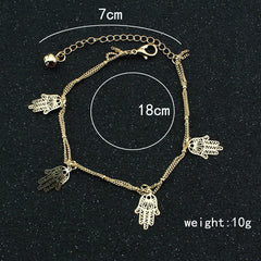 Hollow Out Hands Tassel Anklet - Oh Yours Fashion - 3