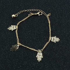 Hollow Out Hands Tassel Anklet - Oh Yours Fashion - 2