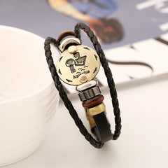 Aquarius Constellation Leather Bracelet - Oh Yours Fashion - 5