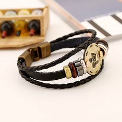 Aquarius Constellation Leather Bracelet - Oh Yours Fashion - 4