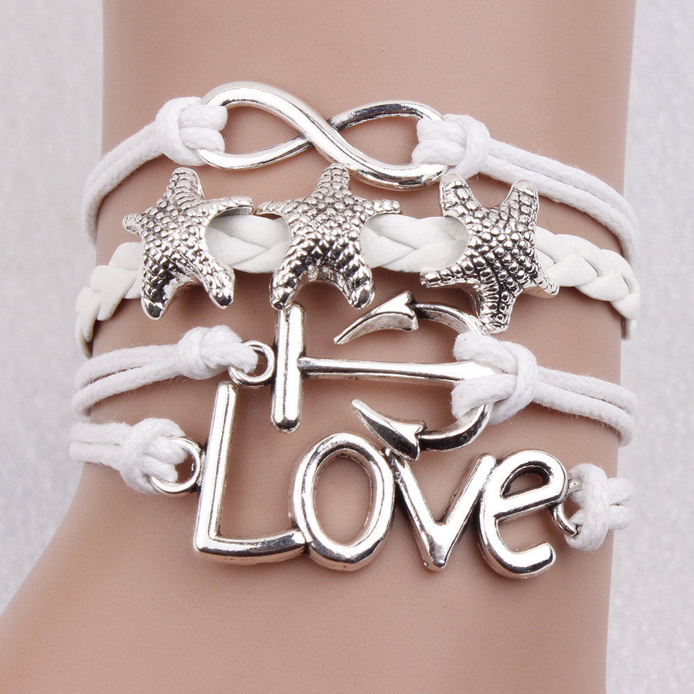 Romantic Starfish Multilayer Fashion Bracelet - Oh Yours Fashion