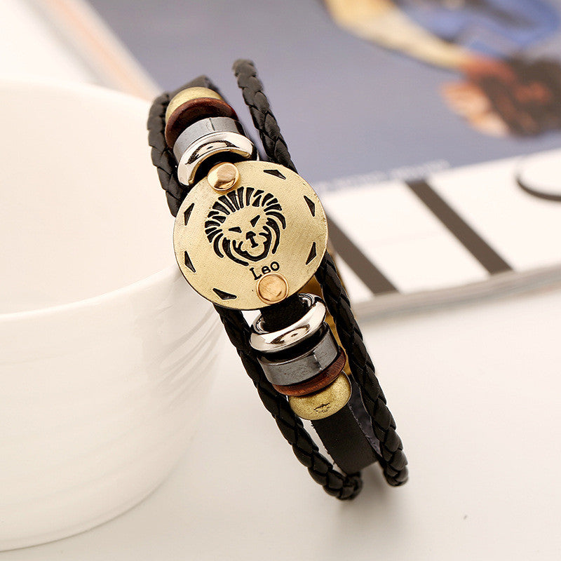 Leo Constellation Leather Bracelet - Oh Yours Fashion - 4
