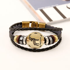 Capricorn Constellation Leather Bracelet - Oh Yours Fashion - 4