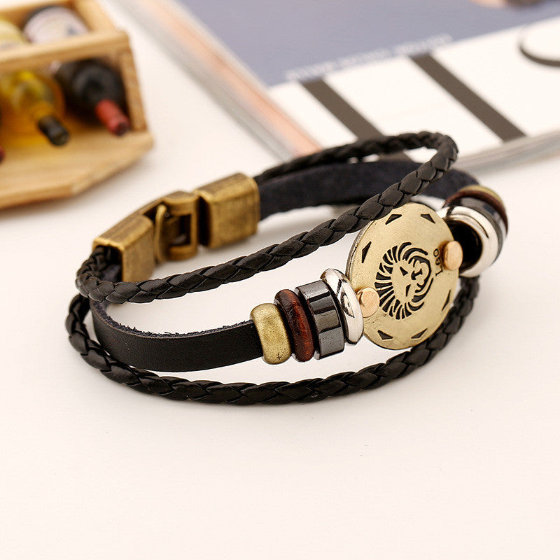 Leo Constellation Leather Bracelet - Oh Yours Fashion - 5