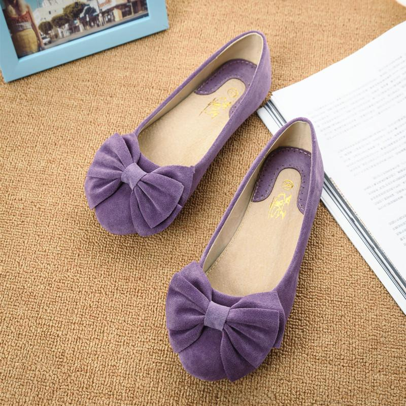 Creative Bowknot Suede Comfortable Flat Shoes Sneaker - MeetYoursFashion - 3