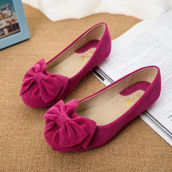 Creative Bowknot Suede Comfortable Flat Shoes Sneaker - MeetYoursFashion - 1