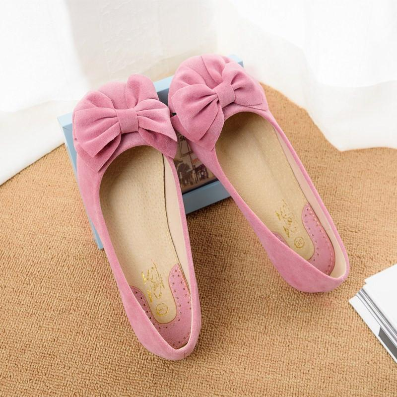 Creative Bowknot Suede Comfortable Flat Shoes Sneaker - MeetYoursFashion - 7