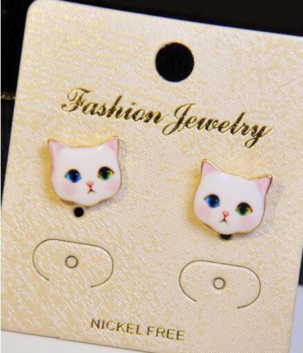 Korea Style Cute Cat Face Earrings - Oh Yours Fashion - 2