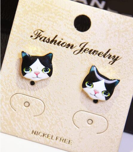 Korea Style Cute Cat Face Earrings - Oh Yours Fashion - 5