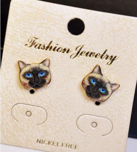 Korea Style Cute Cat Face Earrings - Oh Yours Fashion - 4