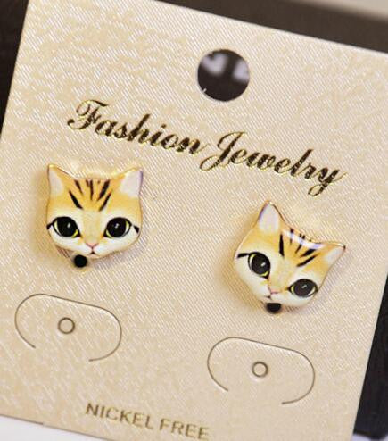 Korea Style Cute Cat Face Earrings - Oh Yours Fashion - 3