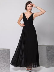 Deep V-Neck Sleeveless Backless Patchwork Long Party Dress - Oh Yours Fashion - 6