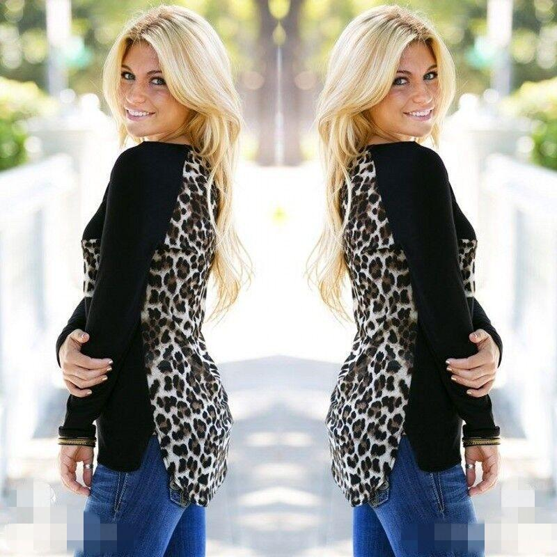Scoop Leopard Print Long Sleeves Pockets Blouse - Meet Yours Fashion - 3