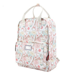 Fashion Floral Print Handle School Backpack Travel Bag - Oh Yours Fashion - 9