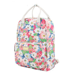 Fashion Floral Print Handle School Backpack Travel Bag - Oh Yours Fashion - 2