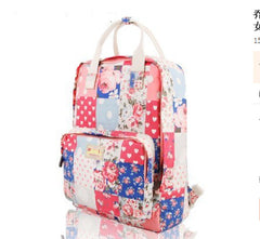 Fashion Floral Print Handle School Backpack Travel Bag - Oh Yours Fashion - 10