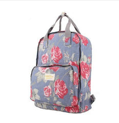 Fashion Floral Print Handle School Backpack Travel Bag - Oh Yours Fashion - 7