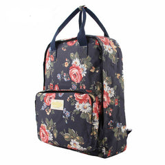 Fashion Floral Print Handle School Backpack Travel Bag - Oh Yours Fashion - 4