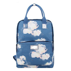 Fashion Floral Print Handle School Backpack Travel Bag - Oh Yours Fashion - 8
