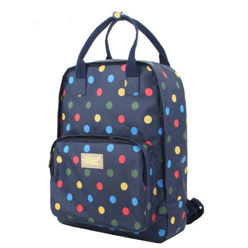 Fashion Floral Print Handle School Backpack Travel Bag - Oh Yours Fashion - 1