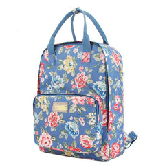 Fashion Floral Print Handle School Backpack Travel Bag - Oh Yours Fashion - 13