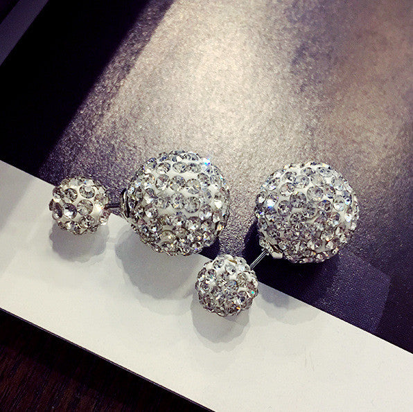 Crystal Double Shambhala Ball Earring - Oh Yours Fashion - 17