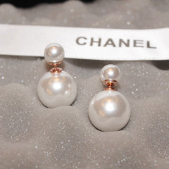 Candy Color Big Little Pearl Earring - Oh Yours Fashion - 3
