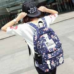 British Simple Students Words Printed Travel Backpack - Oh Yours Fashion - 1