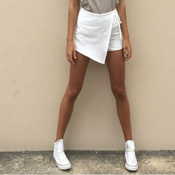 Irregular Crossover Bandage Thin Hot Shorts - Meet Yours Fashion - 3