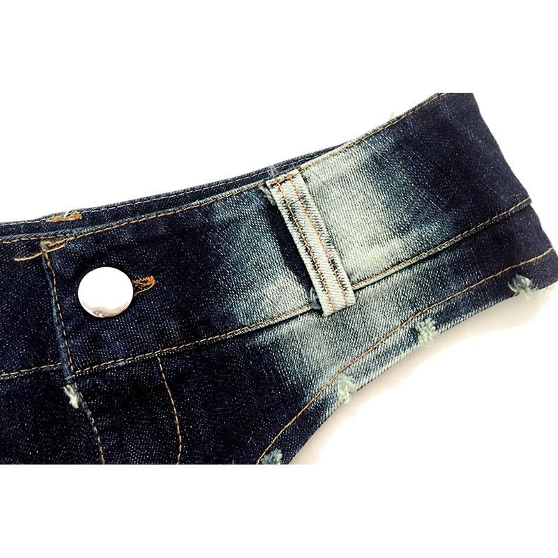 Low Waist Buttons Women's Denim Shorts