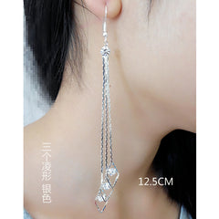 Exaggerated Crystal Tassels Party Earrings - Oh Yours Fashion - 41