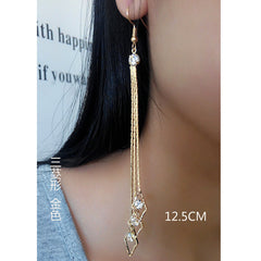 Exaggerated Crystal Tassels Party Earrings - Oh Yours Fashion - 42