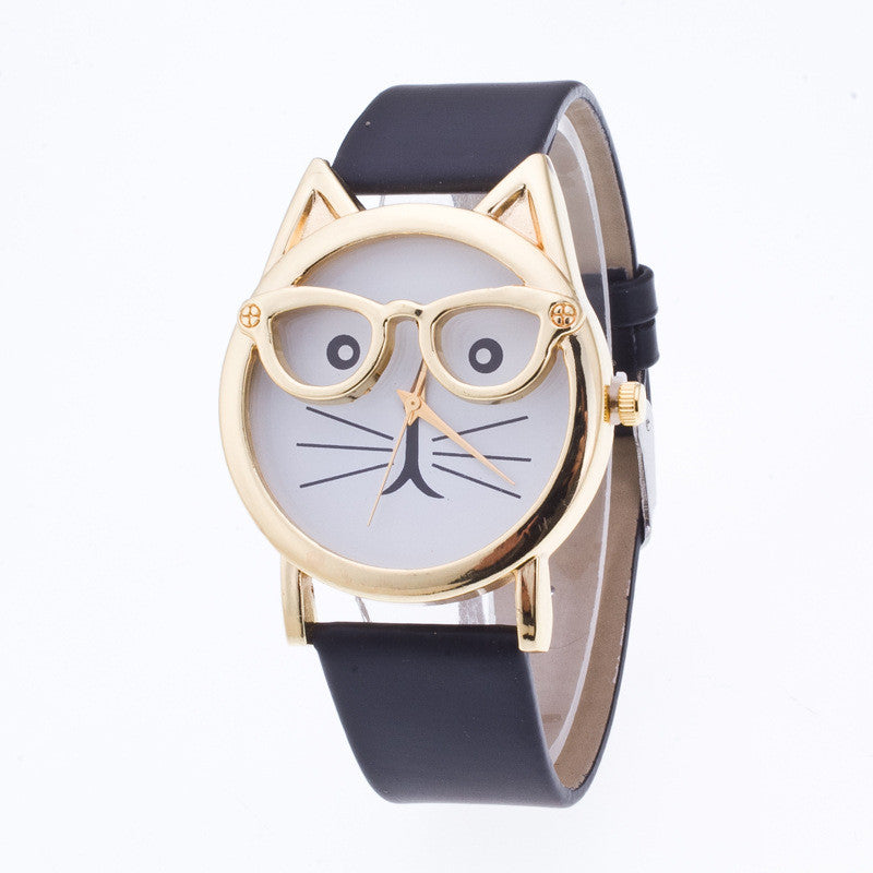 Creativity Cartoon Cat With Glasses Watch - Oh Yours Fashion - 2