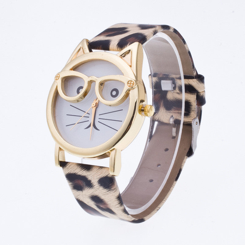 Creativity Cartoon Cat With Glasses Watch - Oh Yours Fashion - 4