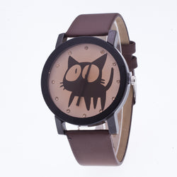 Sweet Cat Pattern Leather Watch - Oh Yours Fashion - 1