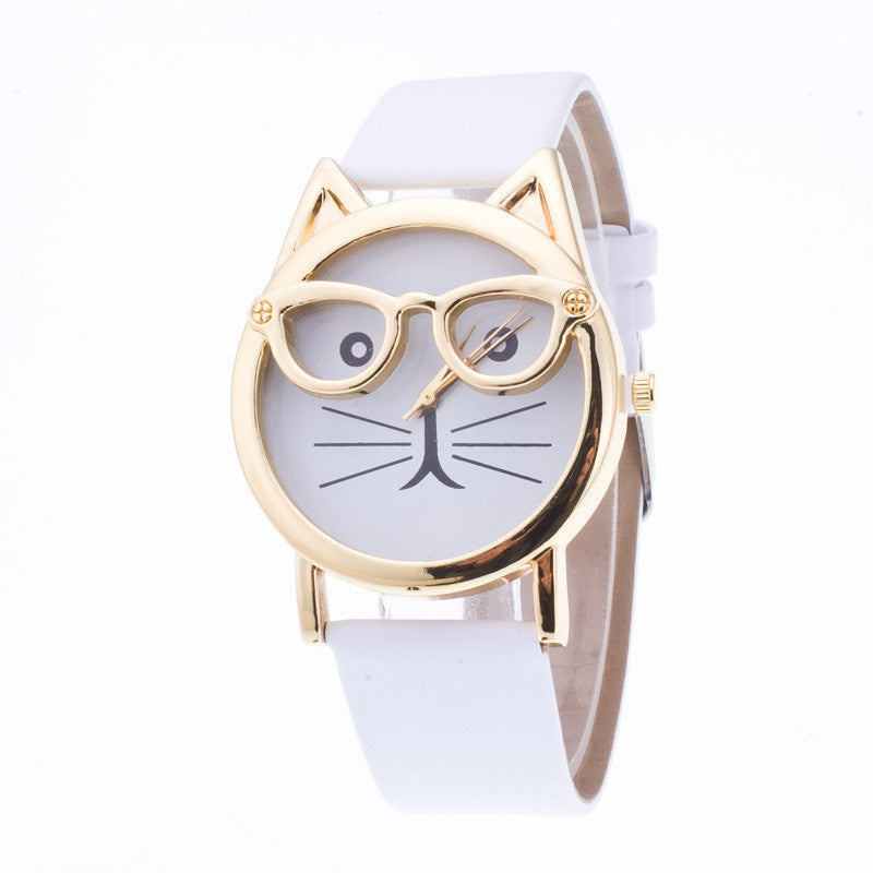 Creativity Cartoon Cat With Glasses Watch - Oh Yours Fashion - 5