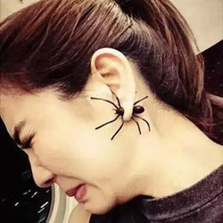 Personality Black Spider Single Earring - Oh Yours Fashion - 1