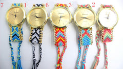 Handmade DIY Woven Bracelet Watch - Oh Yours Fashion - 5