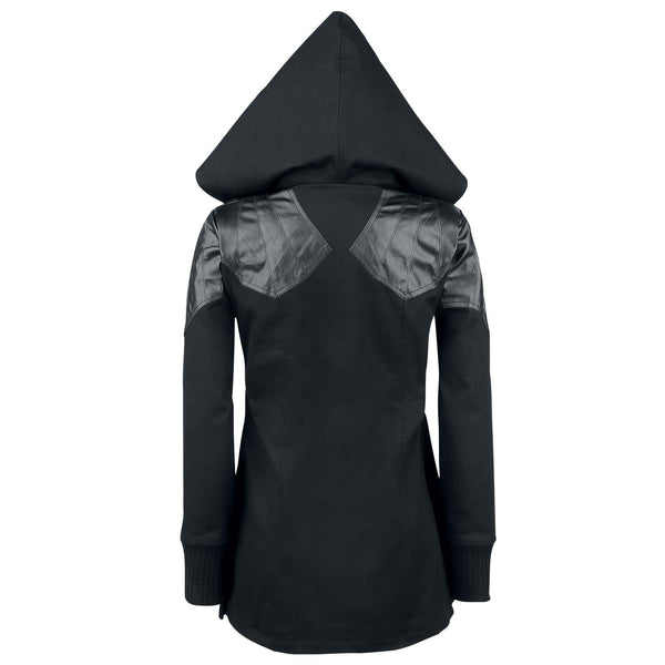 Lace-Up Vampire Womens Hooded Coat - Oh Yours Fashion - 2