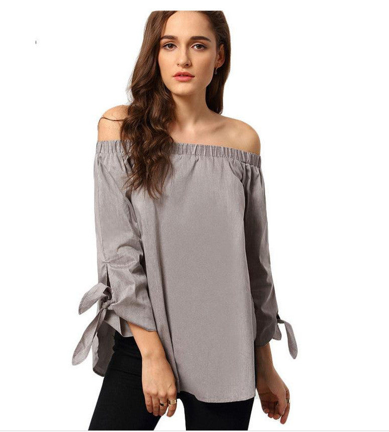 Plus Size Off Shoulder Loose Blouse - Oh Yours Fashion - 1