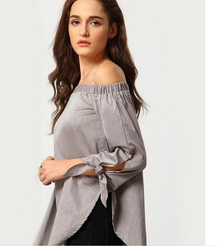Plus Size Off Shoulder Loose Blouse - Oh Yours Fashion - 5