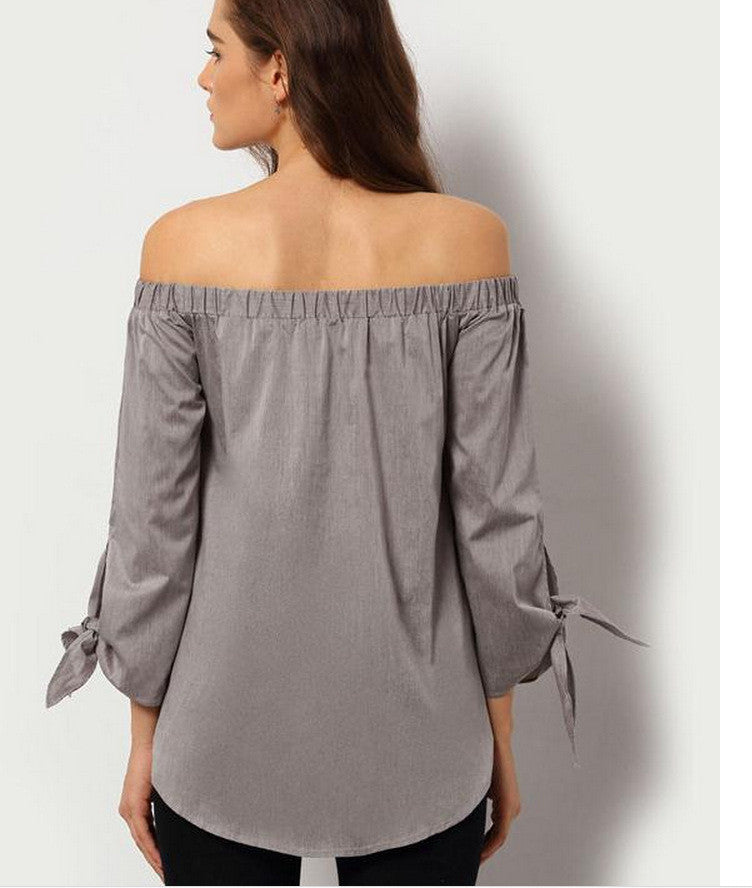 Plus Size Off Shoulder Loose Blouse - Oh Yours Fashion - 7