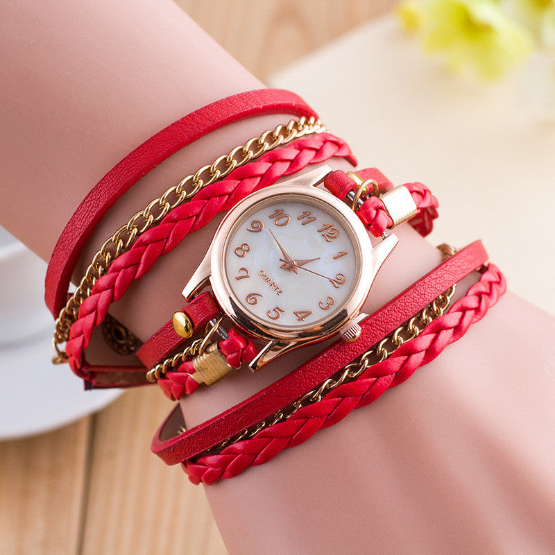 Bright Color Multilayer Woven Watch - Oh Yours Fashion - 2