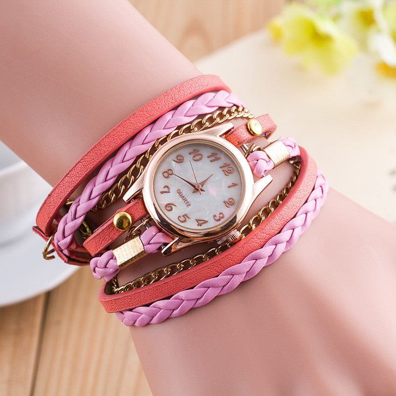 Bright Color Multilayer Woven Watch - Oh Yours Fashion - 5