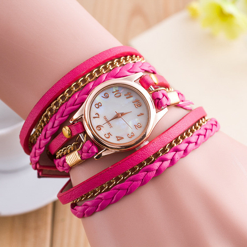 Bright Color Multilayer Woven Watch - Oh Yours Fashion - 7