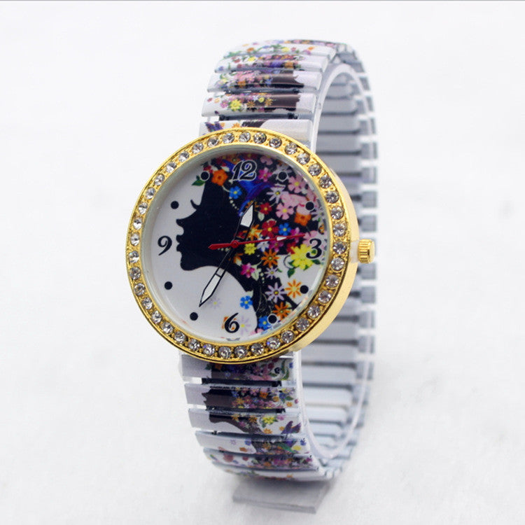 Beauty Women Flower Crystal Watch - Oh Yours Fashion - 1